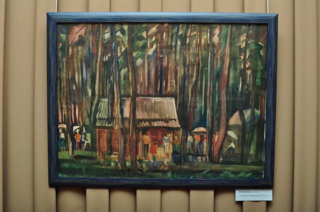 Картина Станислава Белова, сын Кондратия Белова «Пленэр в Чернолучье».