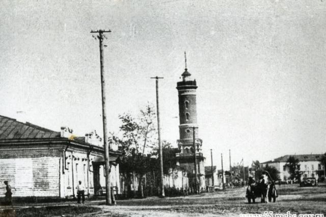 Так выглядела каланча в начале XX века.