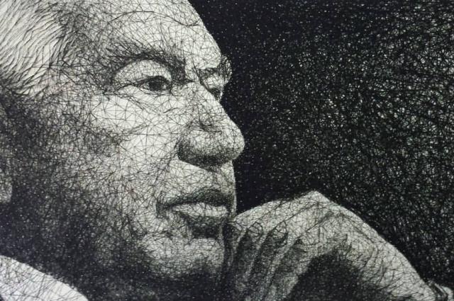 Дебютной работой художника стал портрет Чингиза Айтматова.
