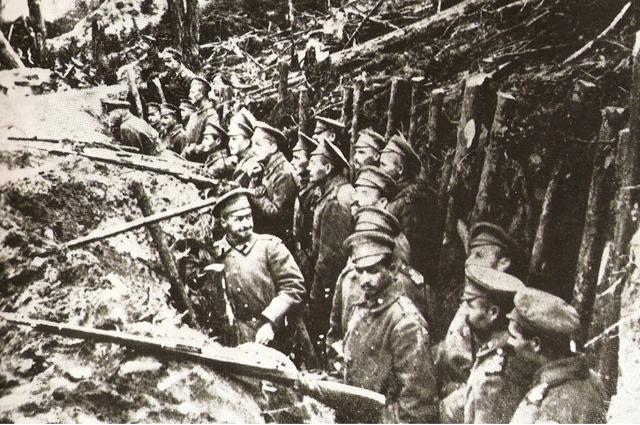 Первая мировая война. Русские солдаты.
