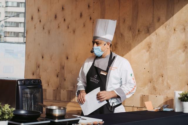 В гастрозоне гости узнали секреты приготовления блюд национальной кухни.