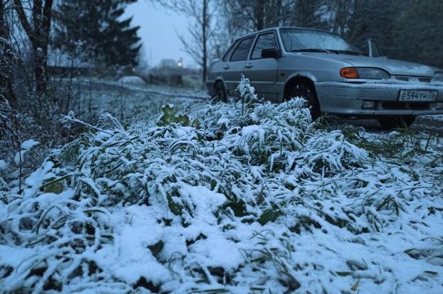 Близ Красного Холма снега уже много.
