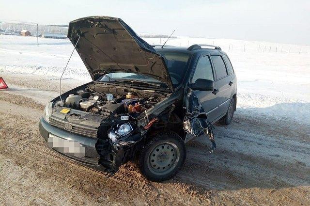 Машины получили механические повреждения