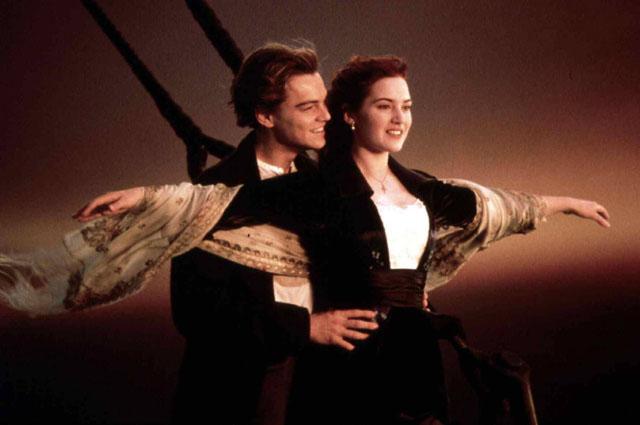 Леонардо Ди Каприо в фильме Титаник . 1997 год
