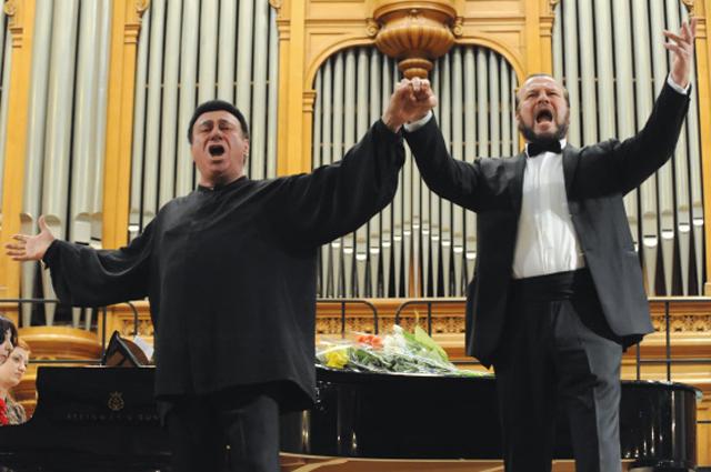 Тенор Зураб Соткилава и его ученик баритон Владимир Редькин