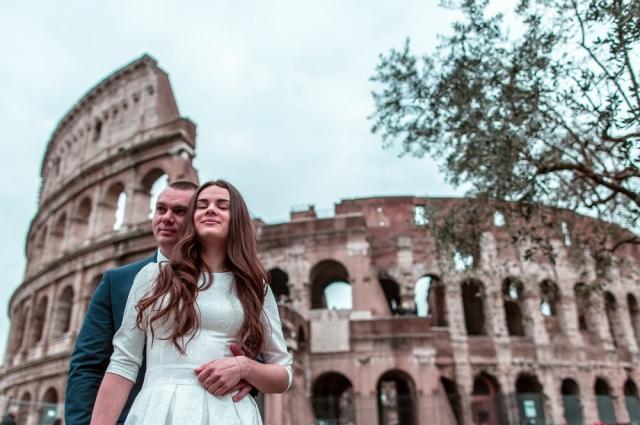 Полина Масалыгина с мужем Александром.