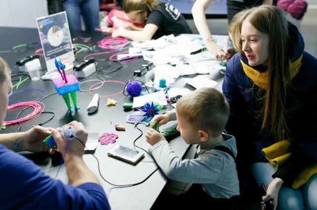 Детей приглашают на мастер-класс по созданию космических пришельцев.