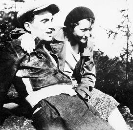 Юлиус Фучик c женой Густиной