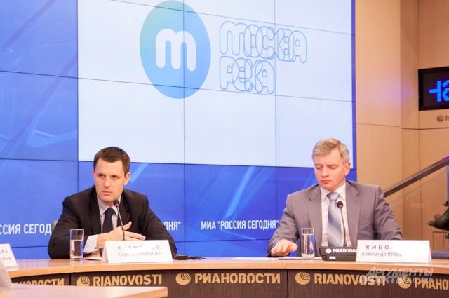 Главный архитектор Москвы Сергей Кузнецов и руководитель департамента культурного наследия города Москвы Александр Кибовский (справа)