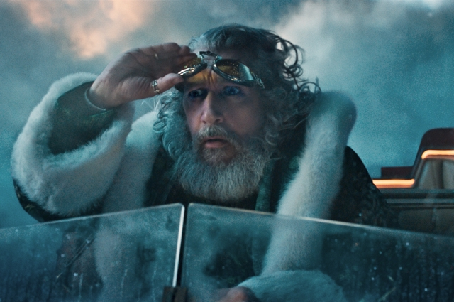 Санта-Клаус весьма современный водитель оленей.