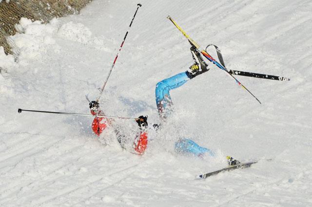 Падение Антона Гафарова на XXII зимних Олимпийских играх в Сочи
