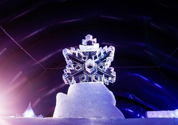 замок ледяных скульптур на ВДНГ