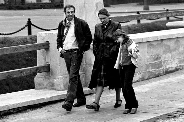 Сергей Юрский, Наталья Тенякова и их дочь Даша. 1982 г.