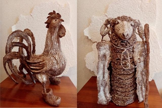 Оксана научилась делать в этой технике и различные панно, и объёмные картины, и уникальные скульптуры.