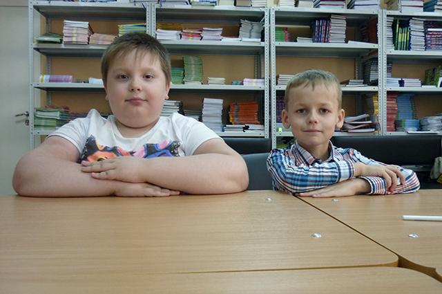Савелий и Михаил учатся дистанционно.