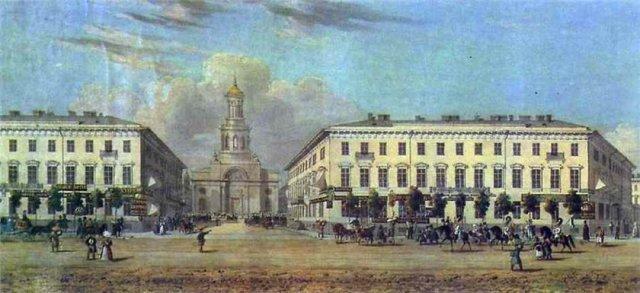 Фрагмент панорамы Невского проспекта.