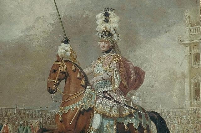 Граф Орлов участвовал в карусели в составе римской кадрили.