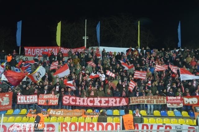 На стадионе Олимп-2 мюнхенцев поддерживало около одной тысячи приезжих болельщиков.