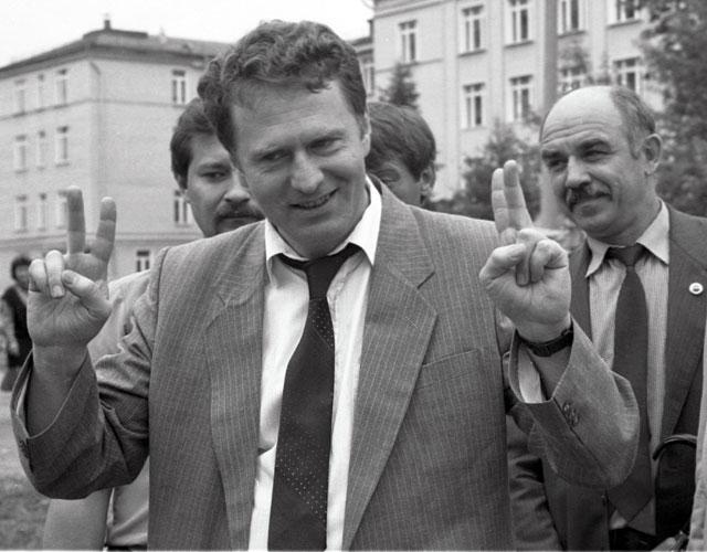 Кандидат на пост Президента РФ В. Жириновский 1991 г.