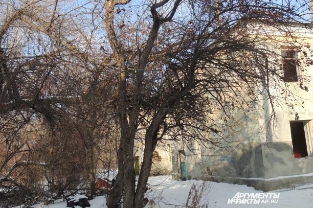 Жильцы вынуждены выливать нечистоты за расселённым домом.