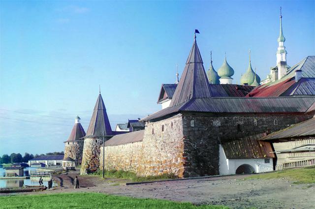Соловецкий монастырь. Фото Сергея Прокудина-Горского, 1915 год.