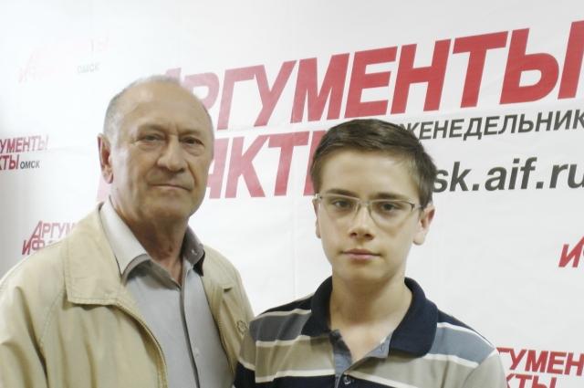 Роман Иванов с дедушкой Борисом Дмитриевичем.