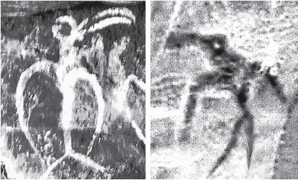 Изображение птицечеловека на о. Пасхи и на Алтае.