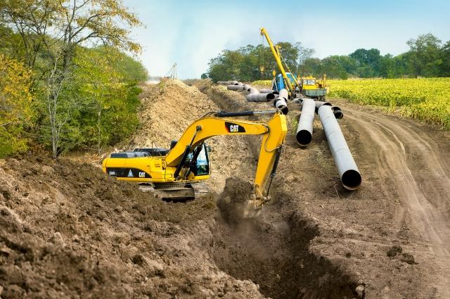 Ремонтные работы на магистральном газопроводе.