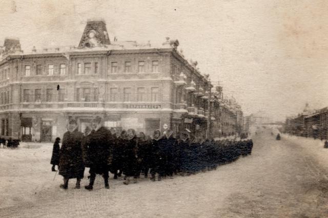 Британские солдаты Миддлсекского полка. Омск, январь 1919 года.