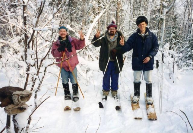 Лыжный тур по уральской тайге с туристами из Нидерландов, февраль 2002