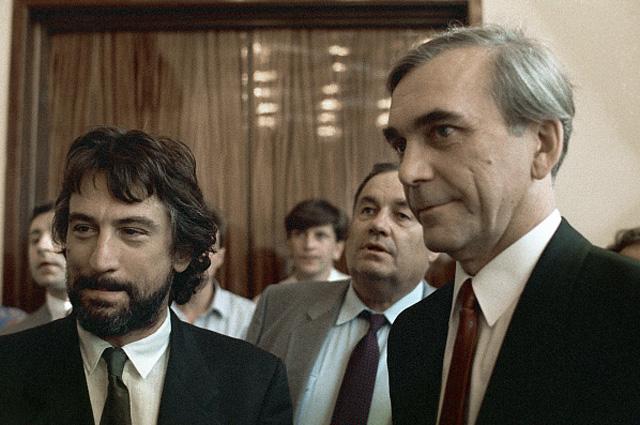 Роберт Де Ниро и Элем Климов на XV Международном кинофестивале. 1987 год