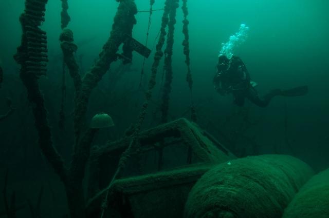 дайвер, балтийское море, море погибших кораблей