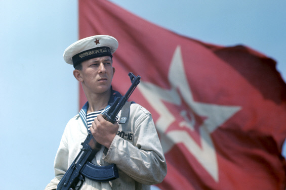 Матрос Черноморского флота ВМФ СССР. 1969 г