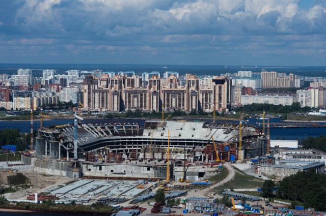 Будущая Зенит-Арена на Крестовском острове в Санкт-Петербурге