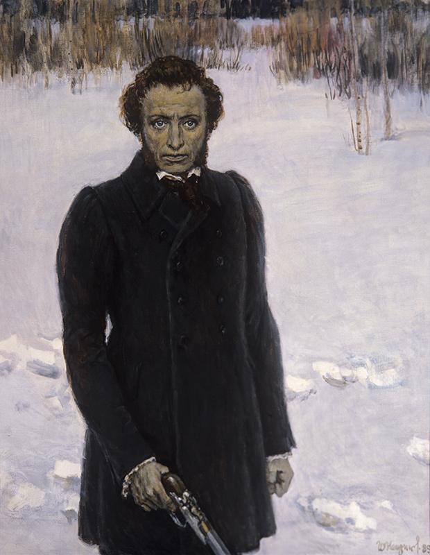 Образ самого Пушкина и его героев очень сильно интересовал мастера.
