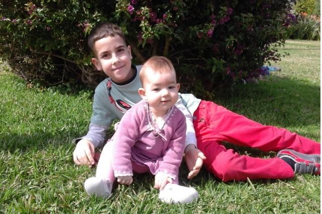 Сын и дочь Ирины и Милада Моркос.