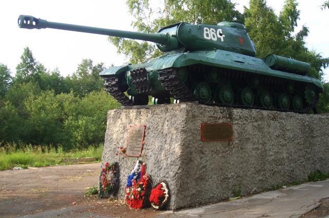 ИС-2 на месте боя экипажа З. Г. Колобанова.