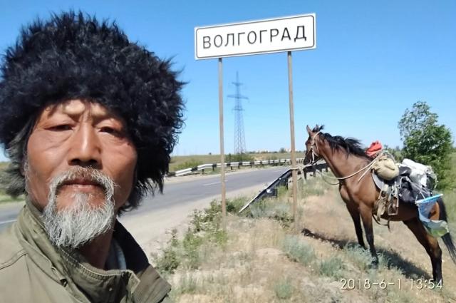 В Волгоградской области у путешественника случились трудности из-за погоды.