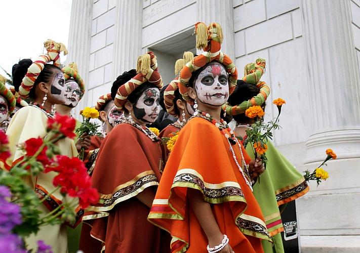 Карнавал Santa Muerte на территории арт-завода «Платфома»