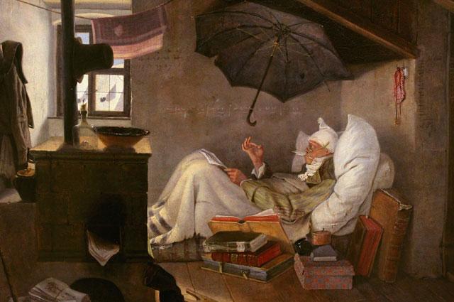 Карл Шпицвег «Бедный поэт», 1839.
