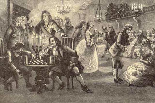 Идея ассамблей была заимствована Петром из форм проведения досуга, виденных им в Европе.