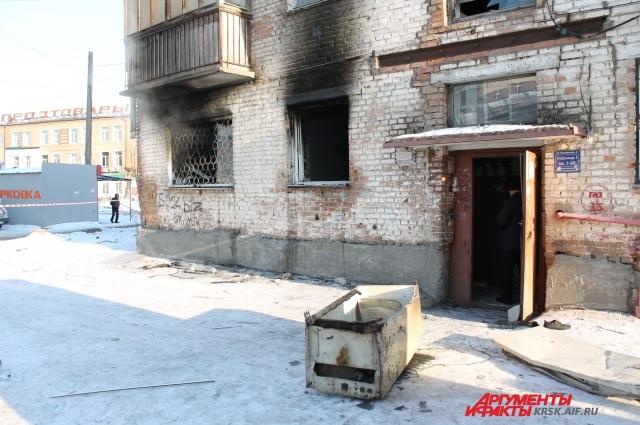 Квартира площадью 30 кв.м выгорела полностью.