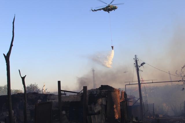 Пожар летом 2017 в Ростове-на-Дону уничтожил 120 жилых строения.