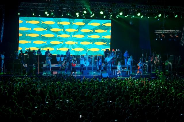 Во время концерта зрители делились впечатлениями с друзьями.