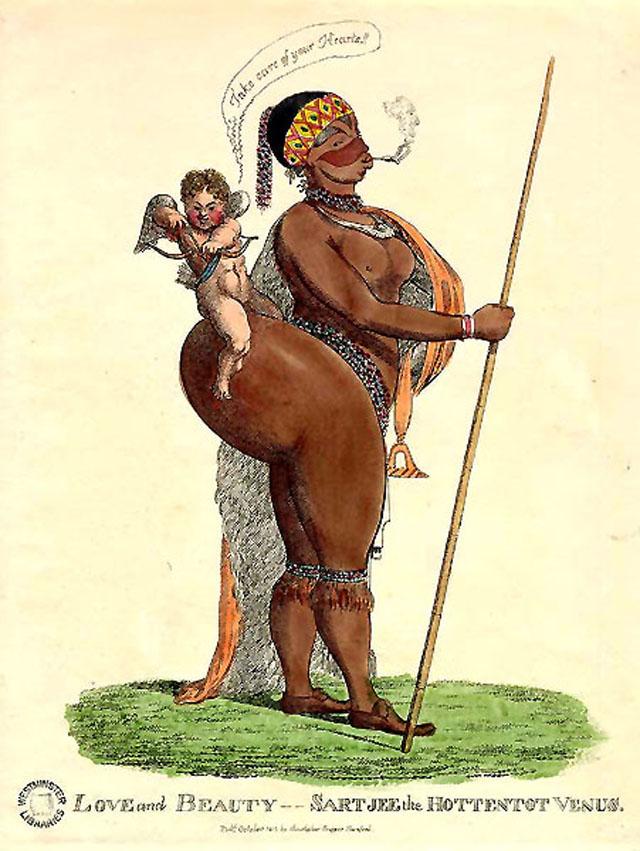 Карикатура на Баартман начала XIX века.