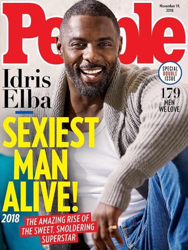 В 2018 году самым сексуальным мужчиной стал известный британский актер Идрис Эльба.