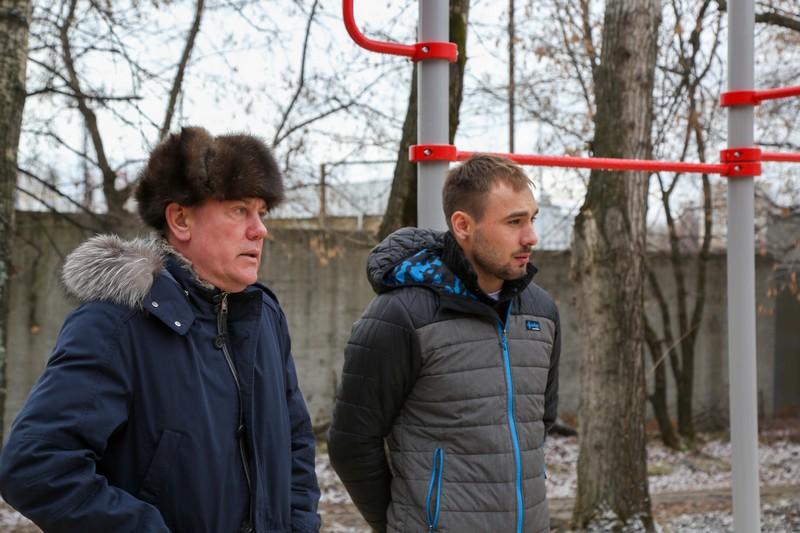 Шипулин и Заводовский открывают площадки для воркаута