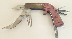 Нож «Пистолет» работа  павловчанина  Ф. Кумохина.