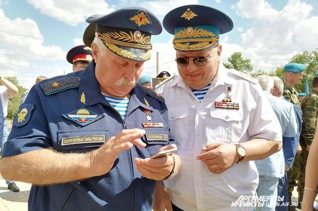 С Героем России, генерал-полковником Владимиром Шамановым.