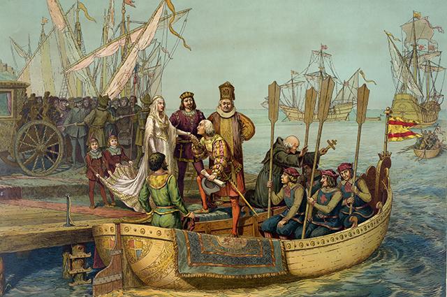 Христофор Колумб отправляется в историческое плавание